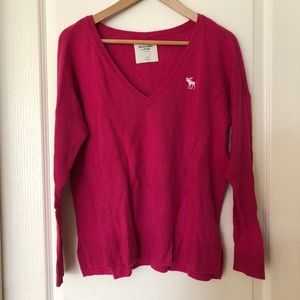 Abercrombie and Fitch Fuchsia Sweater
